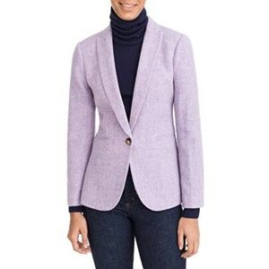 J Crew Parke Blazer, Lavender Herringbone, size 0P